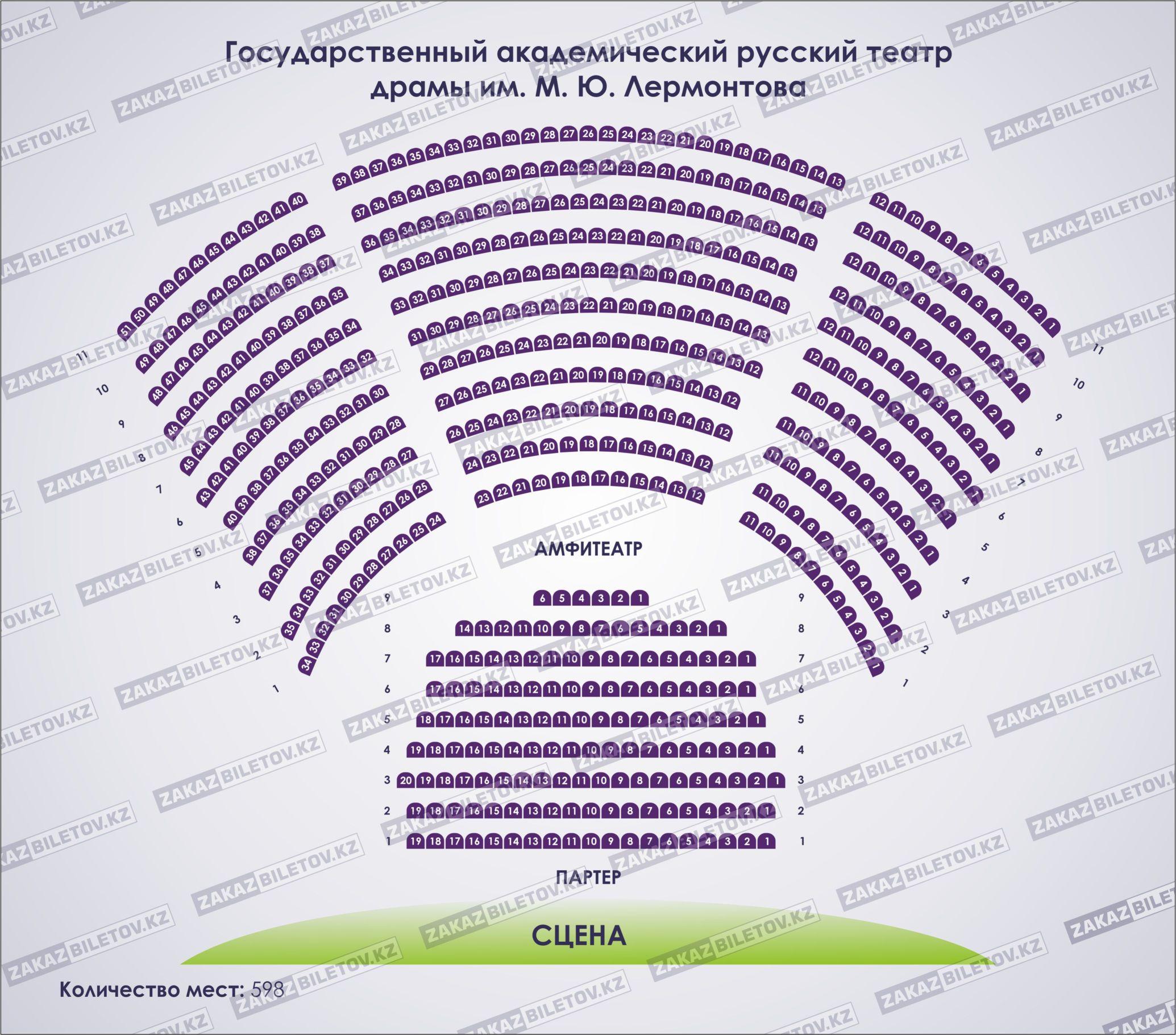 Московский областной государственный театр схема зала